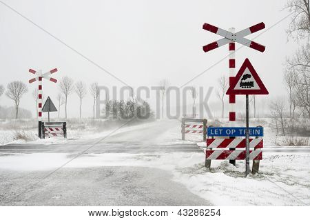 train transition during a snow storm