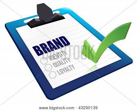 Identity, Quality And Loyalty Checklist Clipboard