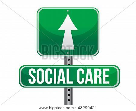 Social Care Road Sign