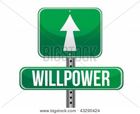 Willpower Road Sign