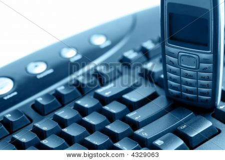 Computer Keyboard And Mobile Phone