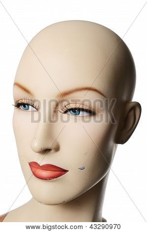 Headshot Of A Female Manneqin, Vertical