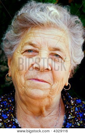 Old Woman Smiling