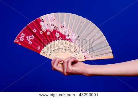 Hanging on to japanese fan