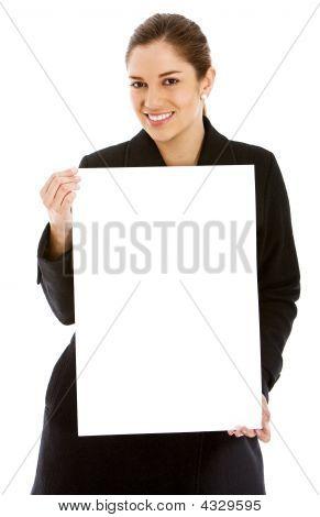 Business Woman Billboard