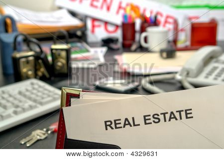 Real Estate Document On Realtor Desk