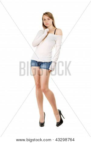 Young Woman With Bewildered Look