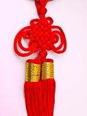 Red Tassel Of China Knot - A Kind Of Adornment In Festival