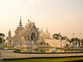 stock photo of buddhist  - Wat Rong Khun at Chiang Rai Thailand - JPG