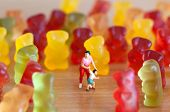stock photo of gummy bear  - Gummy bear invasion - JPG