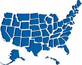 picture of the united states america  - Very detailed vector file of all fifty states in 3d - JPG