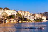 picture of mughal  - City Palace Pichola lake Udaipur Rajasthan India Asia - JPG