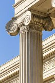 stock photo of pilaster  - Detailed Ancient Greek Ionic Column Close Up - JPG