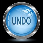 Undo. Internet button. Raster illustration.