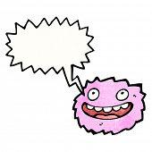 pink furry creature cartoon poster