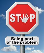 pic of responsibility  - stop being part of the problem of global warming - JPG