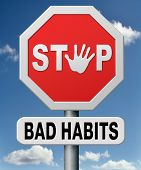 image of addiction to smoking  - bad habits - JPG