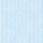 Sea life seamless pattern with stripes