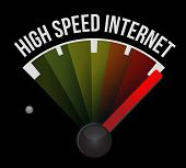 image of start over  - high speed internet Speedometer scoring high speed illustration design over white - JPG