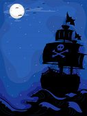 pic of raider  - Illustration of a Pirate Ship sailing at Night - JPG