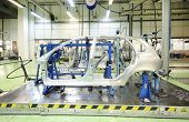 TOGLIATTI - SEPTEMBER 30: Equipment for accurate measurement of car bodies at Avtovaz factory on Sep