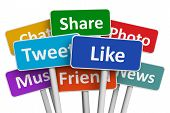 stock photo of  media  - Social media and networking concept - JPG