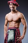 pic of kilt  - Scottish traditions concept with person wearing kilt - JPG