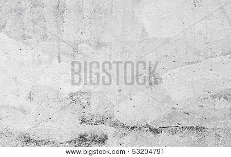 Closeup Concrete Wall Texture With Plaster And White Paint