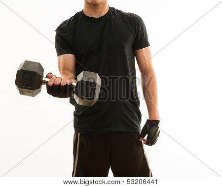 Masculine Teen Exercising And Getting Fit