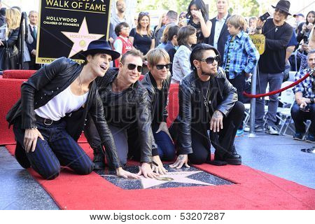 LOS ANGELES - OCT 30: Perry Farrell, Stephen Perkins, Chris Chaney, Dave Navarro at a ceremony for 'Jane's Addiction' star on the Hollywood Walk of Fame on October 30, 2013 in Los Angeles, CA