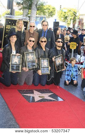 LOS ANGELES - OCT 30: Taylor Hawkins, John Densmore,John Doe, Perry Farrell, Dave Navarro, Stephen Perkins, Chris Chaney - 'Jane's Addiction' - star - Walk of Fame, October 30, 2013 in Los Angeles, CA