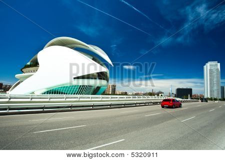 View To El Palau De Les Arts Reina Sofia In The City Of City Of Arts And Sciences