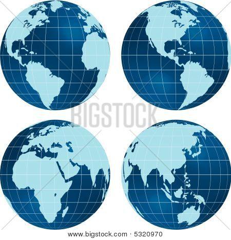 Blue globes.