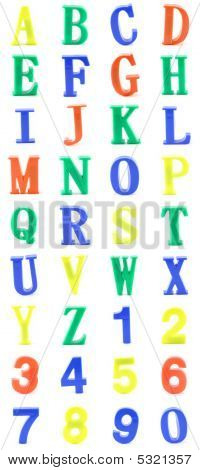 Color Plastic Letters Alphabet