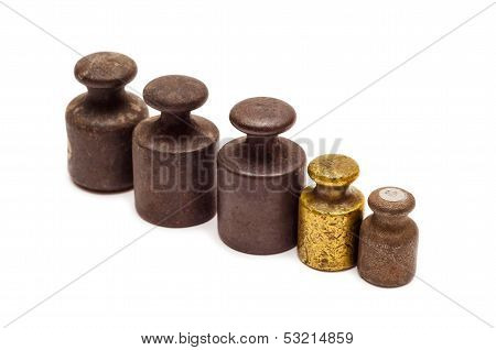 Five Calibration Weights In Row