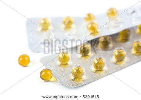 yellow Pills isoliert