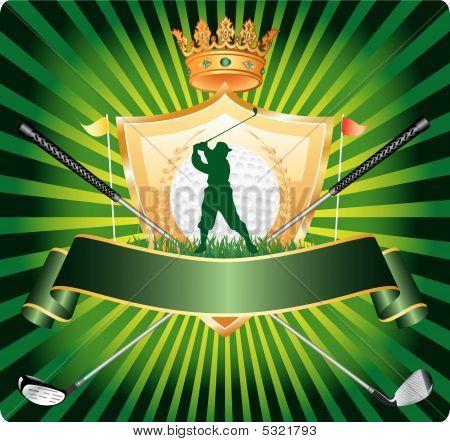 Golf Banner Silhouette