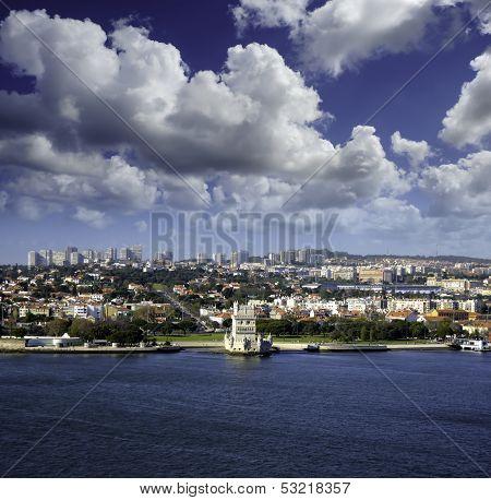 Cityscape Of Lisbon Portugal