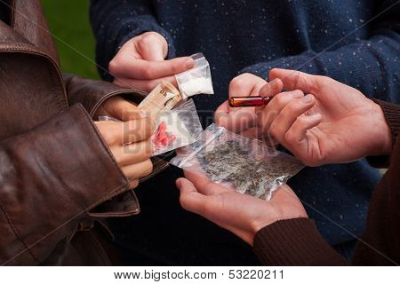 Drug Dealer Selling Drugs