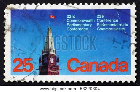 Postage Stamp Canada 1977 Peace Tower, Parliament, Ottawa