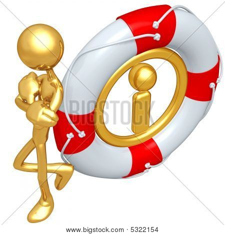 3D Character With Lifebuoy Information
