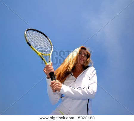 Woman And Tennis