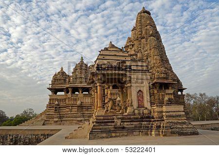 Kandariya Mahadeva Temple, Temples Of Khajuraho, India - UNESCO world heritage site.