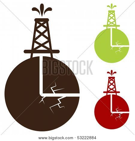 An image of a hydraulic fracturing icon.