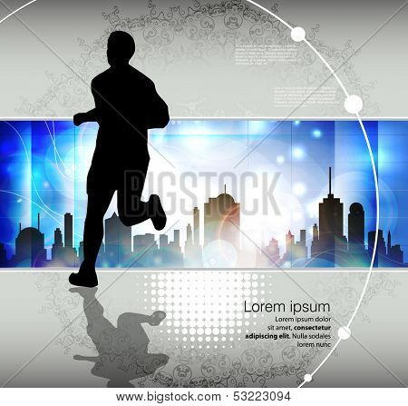 Marathon runner. Vector illustration