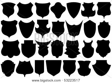 Set of different shields