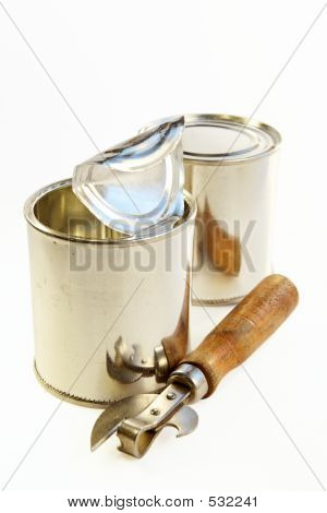 Tin Banks And Can Opener