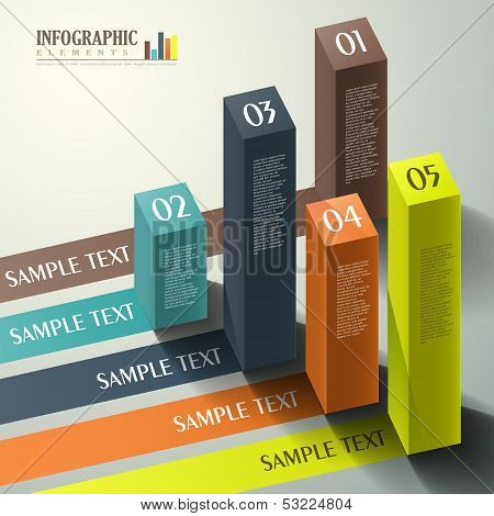Vector Abstract 3D Cube Infographics