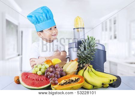 Boy Making Juice