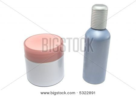 Two Cosmetic Bottles
